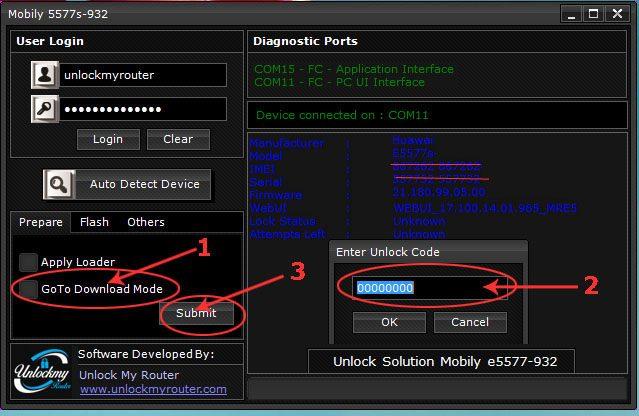 How to unlock Mobily E5577s-932