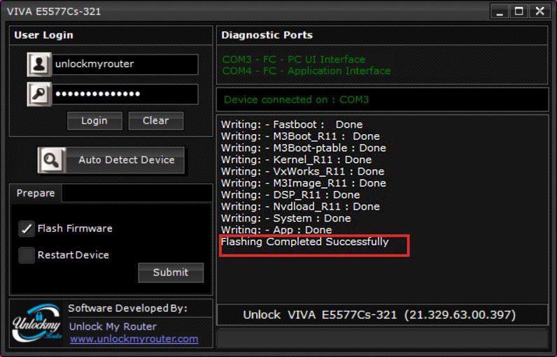 Unlock VIVA E5777Cs-321 new version 21.329