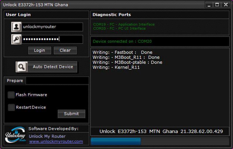 Unlock MTN Ghana E3372h-153