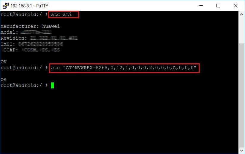 telnet unlock