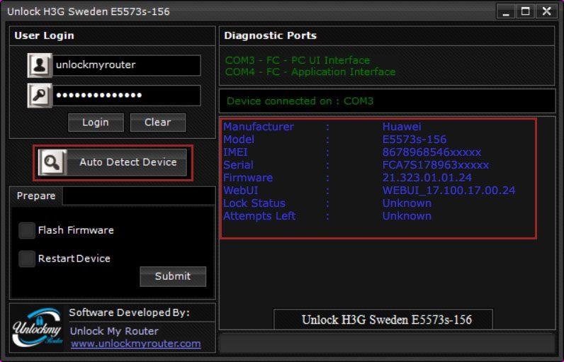 Sweden H3G Huawei E5573s-156
