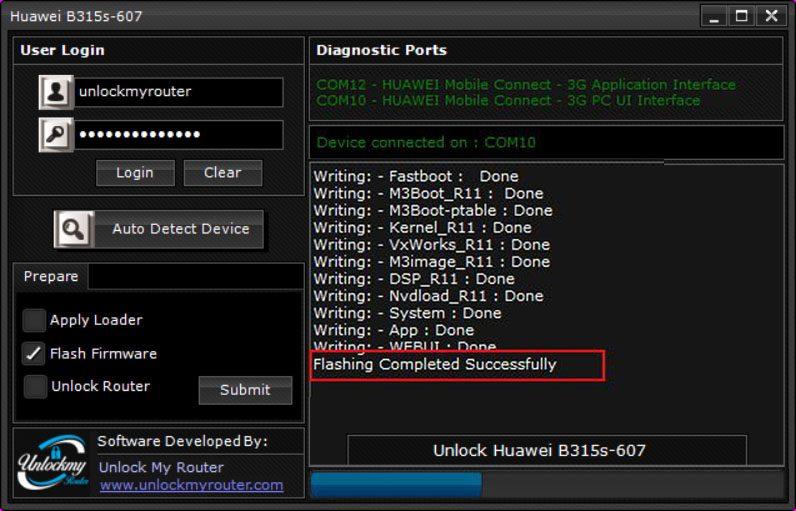 Unlock B315s-607 Router